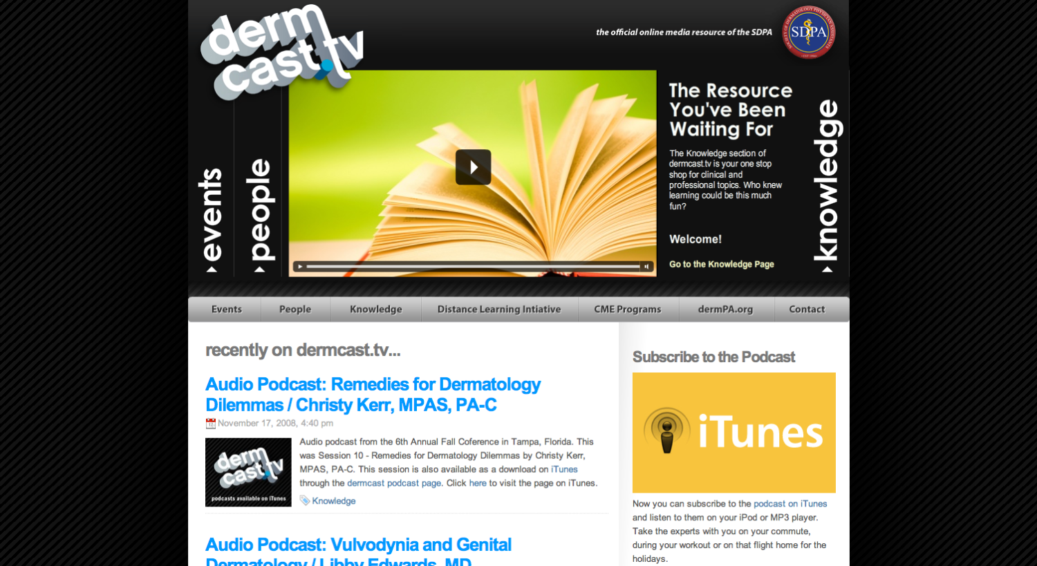 Welcome to dermcast.tv